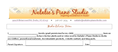 Monday Mailbag – Media Release Forms for Piano Students | Music ...